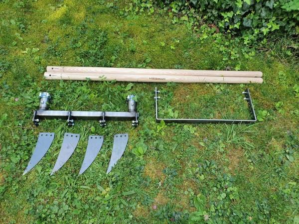 Doppelgrabegabel Forke 22 cm plus Kraftbügel