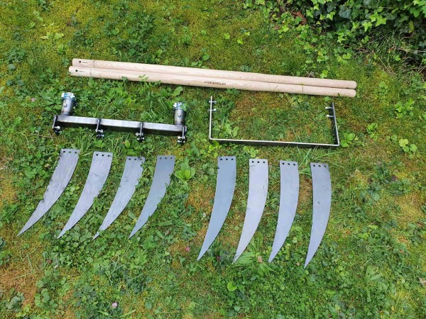 Doppelgrabegabel Forke 34/40 Kraftbügel Set