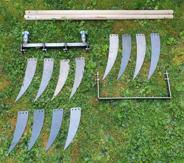 Doppelgrabegabel Forke 28/34/40 Kraftbügel Set